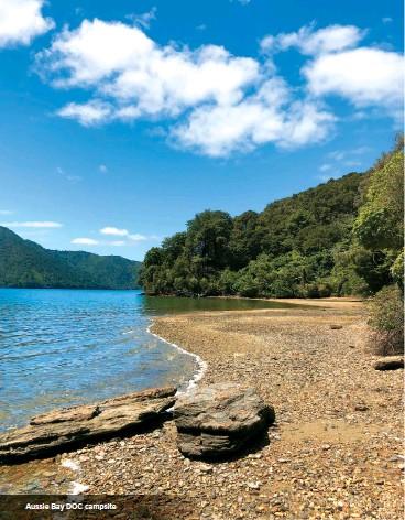 ??  ?? Aussie Bay DOC campsite