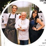 ??  ?? Carles Gaig (centre), Executive Chef Martí Carlos Martínez (left) and Núria Gibert, Director (right)