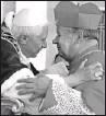 ?? OSSERVATORE ROMANO, REUTERS ?? Msgr. Bernard Prince, left, was convicted in January of 13 charges of indecent and sexual assault. At right, Msgr. Prince's friend, Stanislaw Cardinal Dziwisz, is elevated by Pope Benedict in 2006.