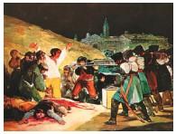??  ?? Jorge Luis Pinto, Jorge Franco, Valeriano Lanchas y Lucas Aranu. Los fusilamientos del 3 de mayo (1814) - Francisco de Goya