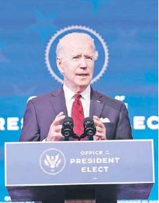 ?? FOTO: AP ?? Joe Biden es considerado un demócrata moderado en el área económica.