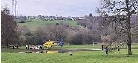 ??  ?? ●●Emergency crews at the scene in Brabyns Park