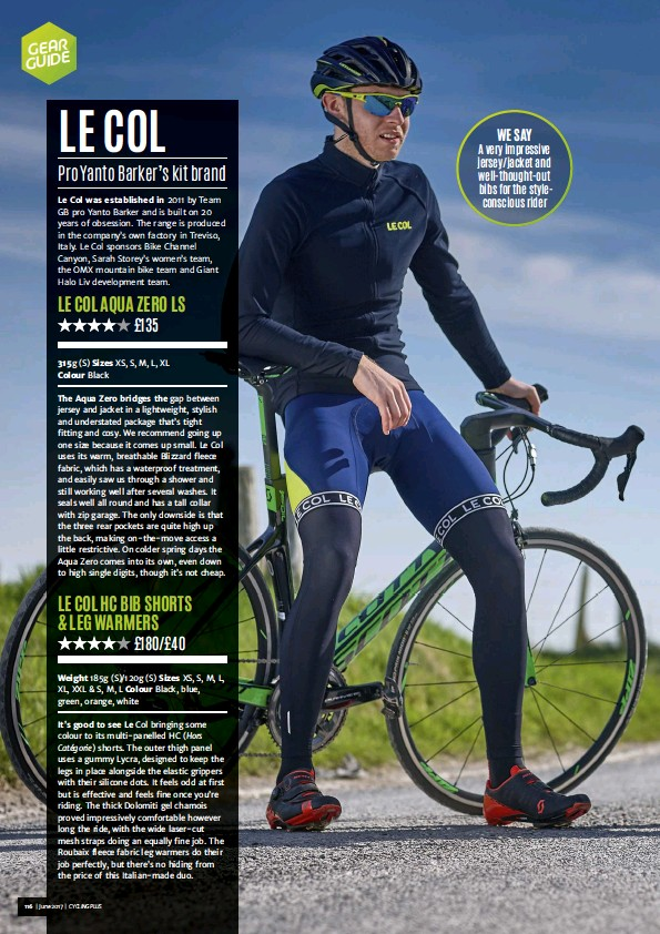 WE SAY A very impressive jersey jacket and well-thought-out bibs for the  styleconscious rider e08eafe74