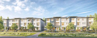 ??  ?? The Carson development by Royale Properties, in Surrey, offers 40 townhomes, starting at $669,900.