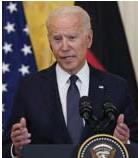 ?? FOTO AP ?? Amerikaans president Joe Biden geeft aan Cuba te willen helpen, maar alleen onder voorwaarden.