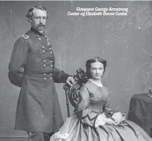 ??  ?? Ekteparet George Armstrong Custer og Elizabeth Bacon Custer.