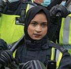 ?? Getty ?? In het VK mogen politieagenten een hoofddoek dragen.