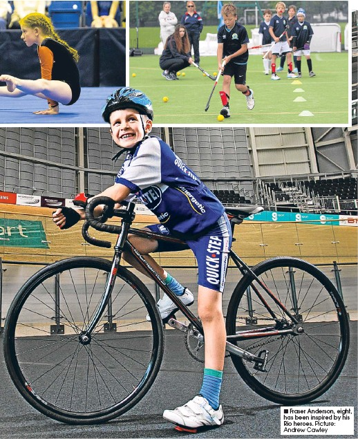 ??  ?? Fraser Anderson, eight, has been inspired by his Rio heroes.