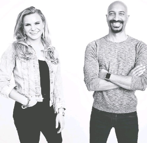 ?? CLEARCO ?? Michele Romanow and Andrew D' Souza are co-founders of Clearco, a Toronto-based fintech which D'souza says is using the data it has about its portfolio companies to accurately price valuations for the deals it is financing.