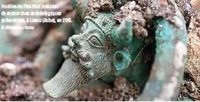 ?? D. Gliksman / Inrap ?? Fouilles de l'Institut national de recherches archéologiques préventives, à Lavau (Aube), en 2015.