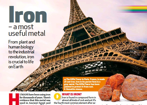 The Eiffel Tower In Paris France Is Made Of Cast Iron Its Purest Form A Grey Metal Has Been Painted To Protect It From Rust