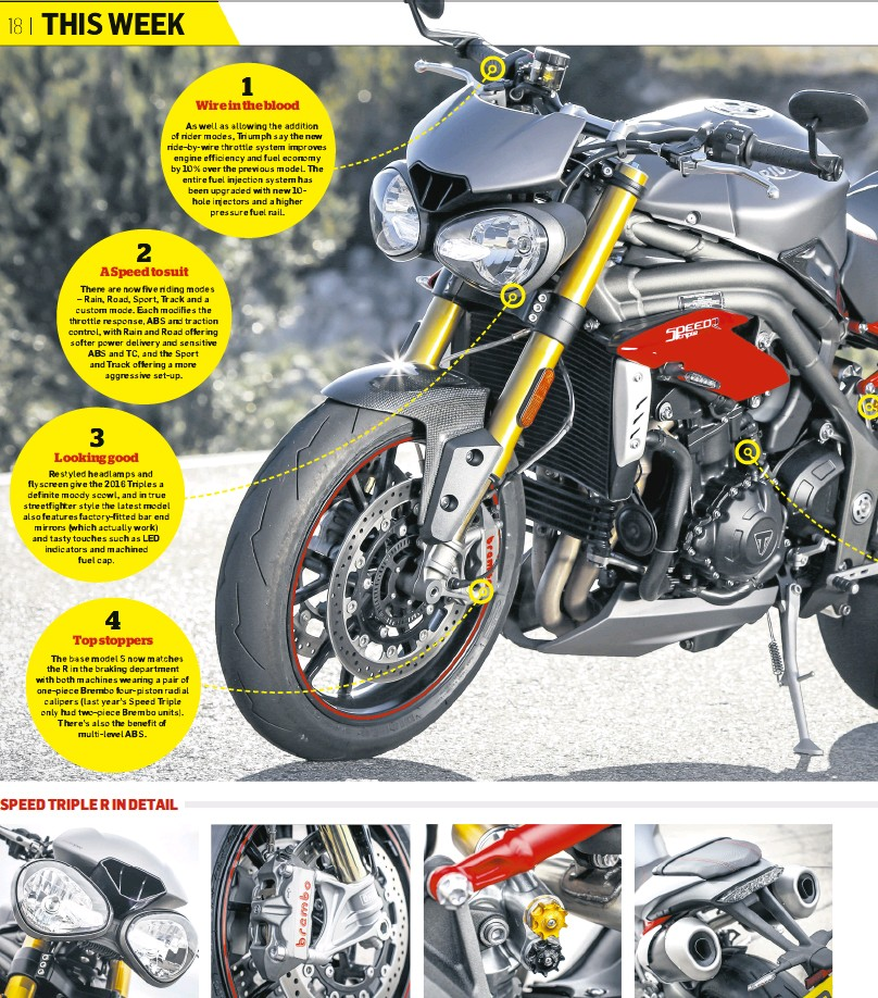 Pressreader Motorcycle News Uk 2016 01 27 Triumph Speed Triple R