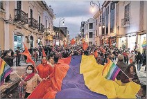 ?? CORTESÍA ?? Recorrido. Previo a su llegada a Cotopaxi, la marcha pasó por Ambato.