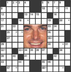 ??  ?? The identity of the celebrity is found within the answers in the puzzle. In order to take the TV Challenge, unscramble the letters noted with asterisks in the puzzle.