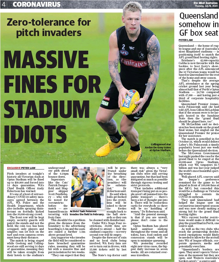 Pressreader The West Australian 2020 07 16 Sure Let S Give The Grand Final To Nrl State