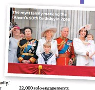 ??  ?? The royal family marking the Queen's 90th birthday in 2016