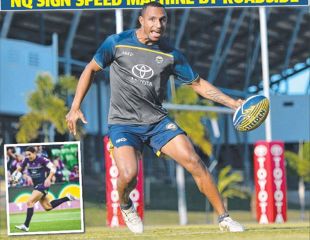 ??  ?? GIDEON'S SPIRAL: Gideon Mosby is lighting up the NRL's under-20 competition; with his speed been rated alongside that of (inset) Storm gun Billy Slater.