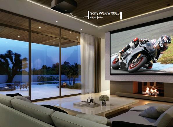 ??  ?? Sony VPL-VW790ES 4K projector