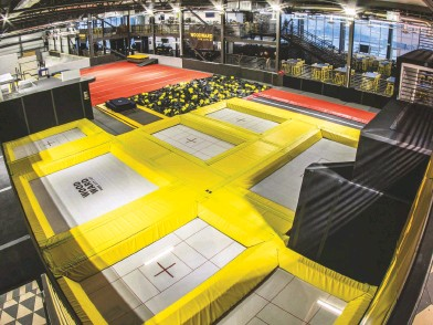 ??  ?? BELOW: Let your inner child—or your actual child—loose on the massive, 66,000-squarefoot Action Sports Hub at Woodward Park City, with tramps, ramps, parkour, foam pits, and a huge skate park.