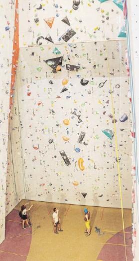 ??  ?? ► El recinto cuenta con instalaciones para practicar las tres disciplinas de la escalada.