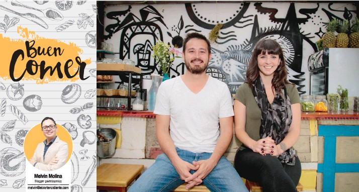 ?? Federico Lizano, chef y Liz Furlong, mixóloga, son los copropietarios del restaurante. Gerson Vargas/La República ??
