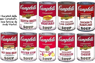 ?? I barattoli delle zuppe Campbell's, rese famose da Andy Warhol. ??