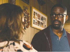 ?? NBC ?? Sterling K. Brown gives a commanding performance as Randall Pearson in the fall première of This Is Us.