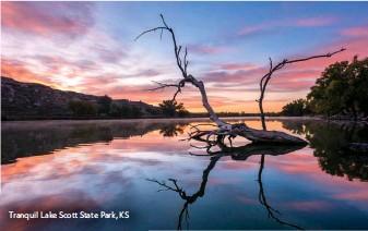 ??  ?? Tranquil Lake Scott State Park, KS