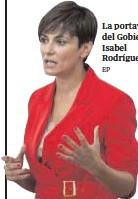 ?? EP // ?? La portavoz del Gobierno, Isabel Rodríguez