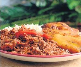 ?? GETTY IMAGES ?? Ropa vieja, uno de los platos de la cocina cubana