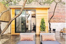 ??  ?? So-called she sheds can be created in various sizes and for various purposes everything from sewing rooms and jewelry-making studios to home offices, music studios like this one, or simply quiet places in which to get away from it all.
