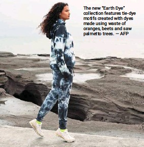 """?? — AFP ?? The new """"earth dye"""" collection features tie-dye motifs created with dyes made using waste of oranges, beets and saw palmetto trees."""
