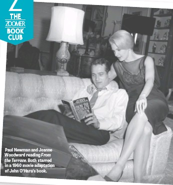 ??  ?? Paul Newman and Joanne Woodward reading From the Terrace. Both starred in a 1960 movie adaptation of John O'Hara's book.