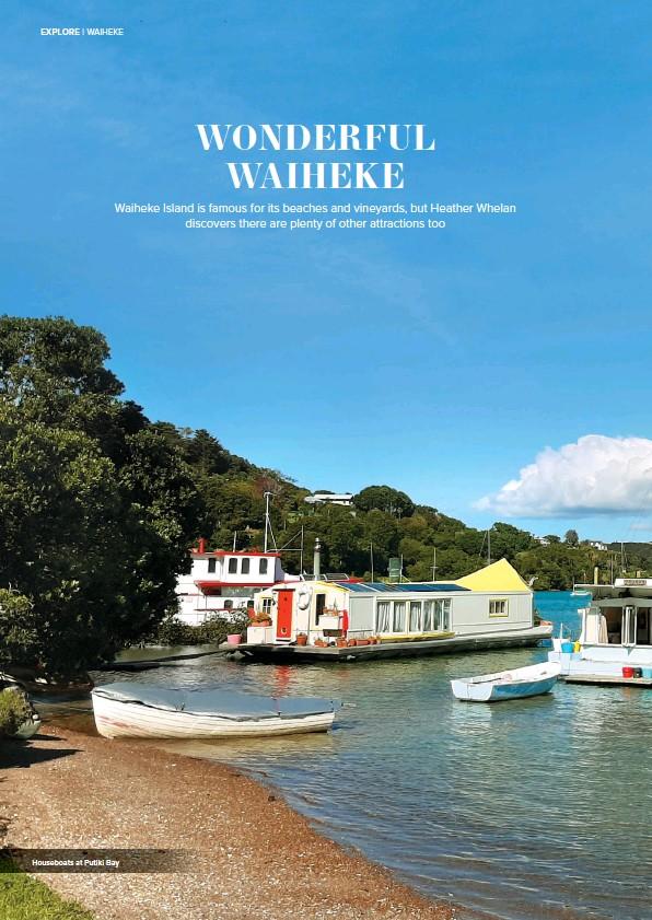 ??  ?? Houseboats at Putiki Bay