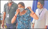 ?? HT PHOTO ?? The acid attack victim in Bharatpur on Monday.