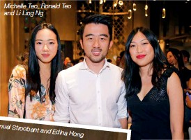 ??  ?? Michelle Teo, Ronald Teo and Li Ling Ng