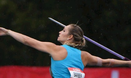?? Photograph: Mick Tsikas/AAP ?? Kelsey-Lee Barber is just one of the athletes who is a medal prospect for Australia in Tokyo.