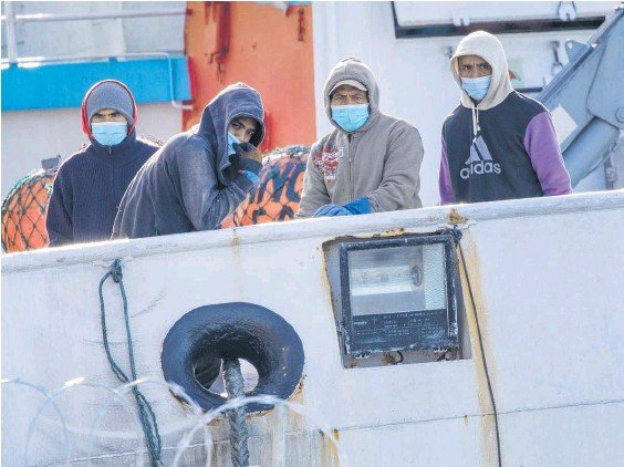 ?? Photo / NZME ?? The quarantining of fishing crews who arrived in NZ infected with Covid has highlighted possible gaps in border protection.