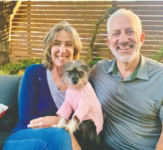 ?? JANE MUNDY ?? B.C. couple Val Lawton and Robb Johnstone adopted Julie through Mex-Can Pet Partners.