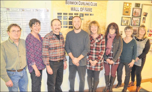 ?? FILE PHOTO ?? The Berwick Curling Club will hold its 2019 Wall of Fame induction ceremony on Jan. 26. In 2018, Mike Morse, Lori and Dan Dorey and the Edith Corkum Memorial Bonspiel were inducted. This year's inductees will include Mike and Michelle Larsen, Curt Palmer and Donnie Smith.