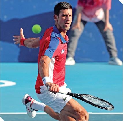 ??  ?? El serbio tiene claro el objetivo de ganar la medalla de oro en Tokio.