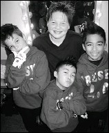 ??  ?? Singer Cole Armour, 13, joined Freshh 2.0 hip hoppers Ethan Vran, Lucky Ancheta and Nathan Quintos at the Kids For Kids concert.