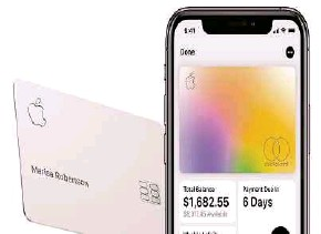 ??  ?? Apple Inc started offering the Apple Card, issued by banking giant Goldman Sachs, in March.
