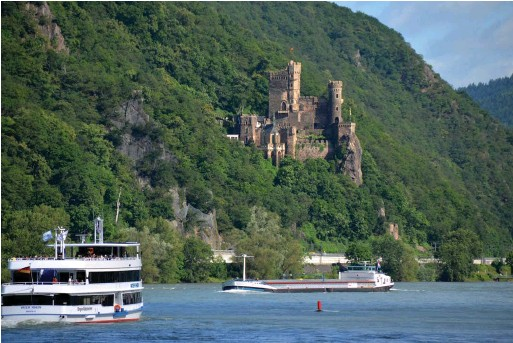??  ?? TOP Why not camp along the Rhine?