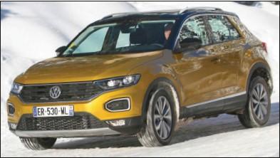 ??  ?? Le plus petit des 4x4 Volkswagen ne manque pas de caractère. Volkswagen T-Roc 2.0 TDI 150 DSG 4Motion Lounge 33 750 € 150 ch CO2 : 133 g/km