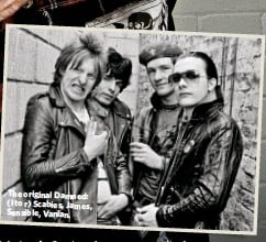 ??  ?? The original Damned: (l to r) Scabies, James, Sensible, Vanian.