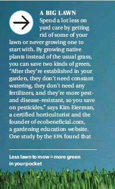 ??  ?? Less lawn to mow = more green in your pocket