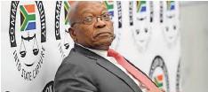 ??  ?? FORMER president Jacob Zuma