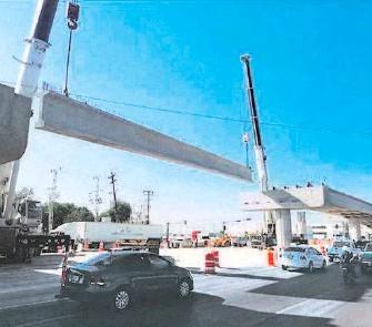 ?? /CORTESÍA SCT ?? El 23 de agosto, la SCT supervisó el avance de los trabajos del entronque Monterrey-nuevo Laredo