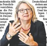 ?? FOTO: MIKE WOLFF/DPA ?? Plädiert für ökologisch sinnvolle Maßnahmen gegen die Corona-pandemie: Bundesumweltministerin Svenja Schulze (SPD).